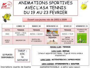 Animations Sportives du 19 au 23 février @ Complexe sportif de Lachaze | Ambarès-et-Lagrave | Nouvelle-Aquitaine | France